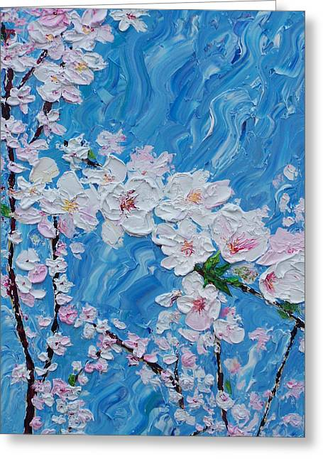 Cherry Blossoms 1 Greeting Card by Timothy Clayton