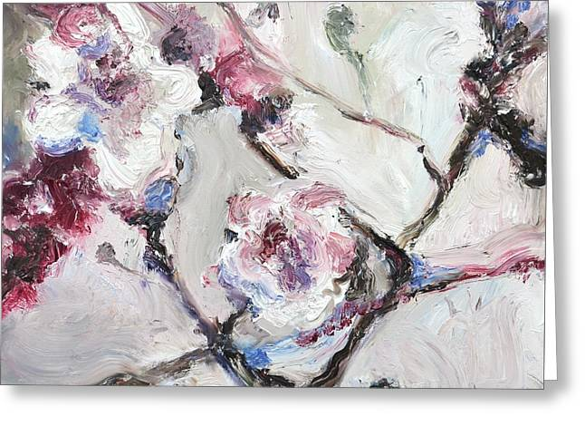 Cherry Blossoms In Abstraction Greeting Card