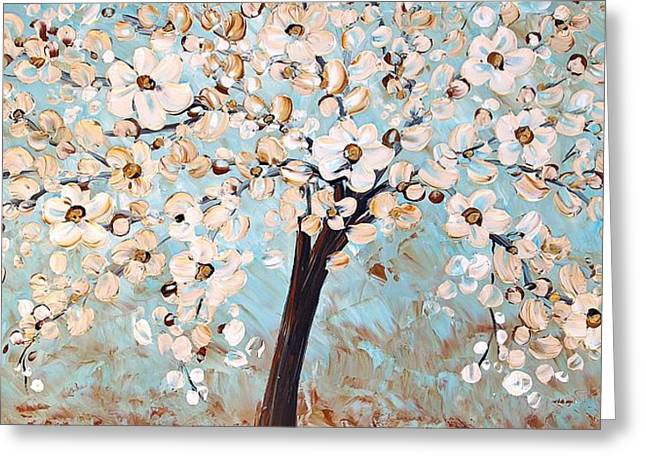 Cherry Blossoms Greeting Card by Jolina Anthony