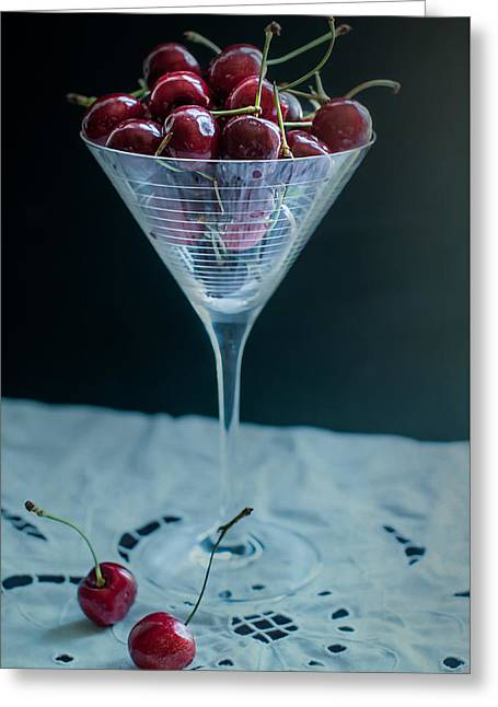 Cherry Cocktail Greeting Card by Maggie Terlecki
