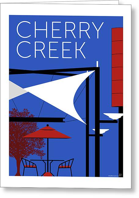 Greeting Card featuring the digital art Cherry Creek Blue by Sam Brennan