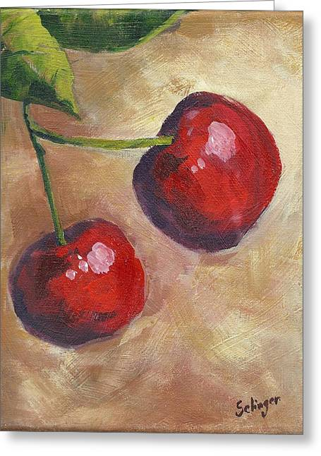 Cherry Duo Greeting Card