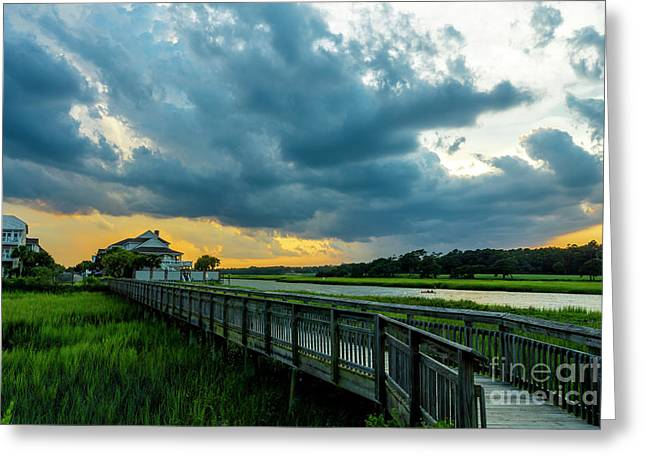 Cherry Grove Channel Marsh Greeting Card