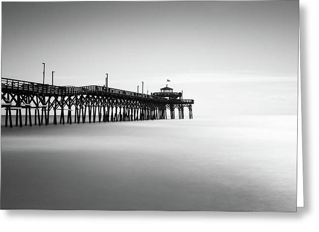 Cherry Grove Fishing Pier Greeting Card by Ivo Kerssemakers
