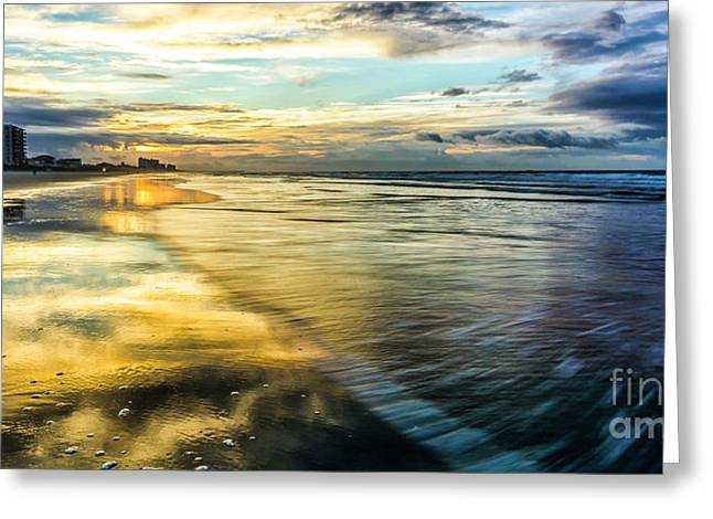 Cherry Grove Golden Shimmer Greeting Card