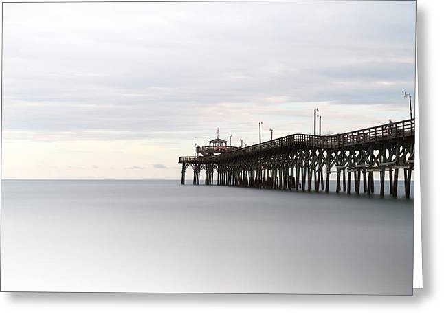 Cherry Grove Pier II Greeting Card by Ivo Kerssemakers