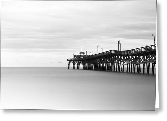 Cherry Grove Pier Greeting Card by Ivo Kerssemakers