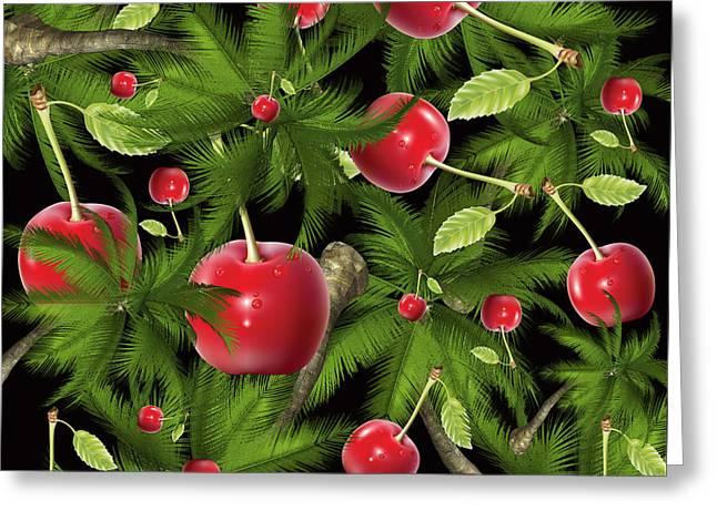 Cherry Greeting Card by Mark Ashkenazi