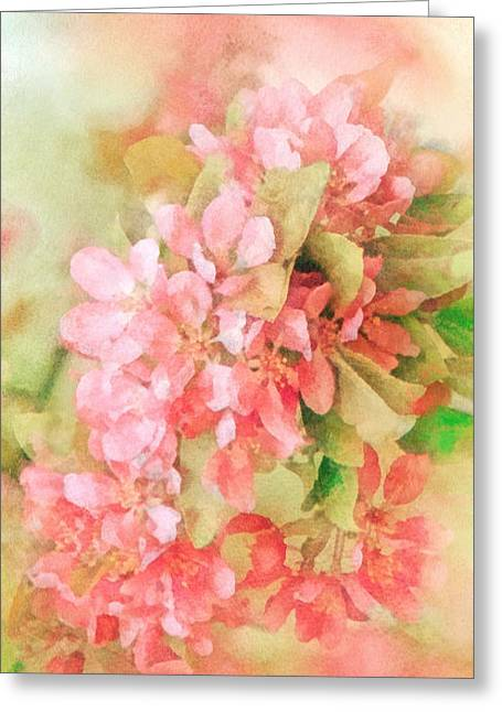Cherry Greeting Card by Mo T