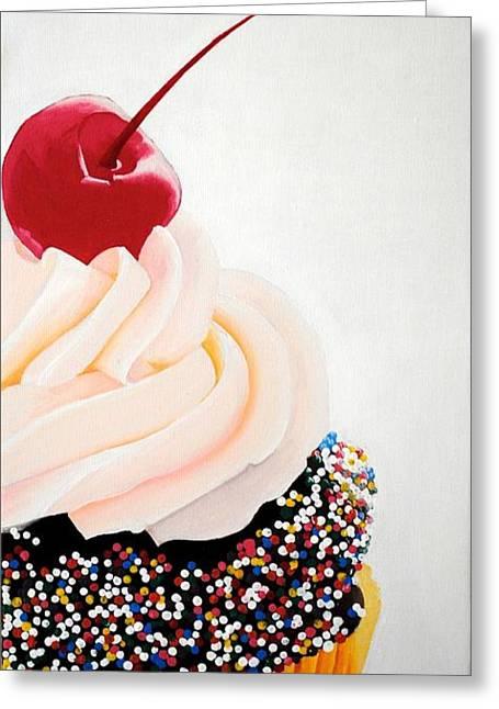 Cherry On Top Greeting Card by Devan Gregori