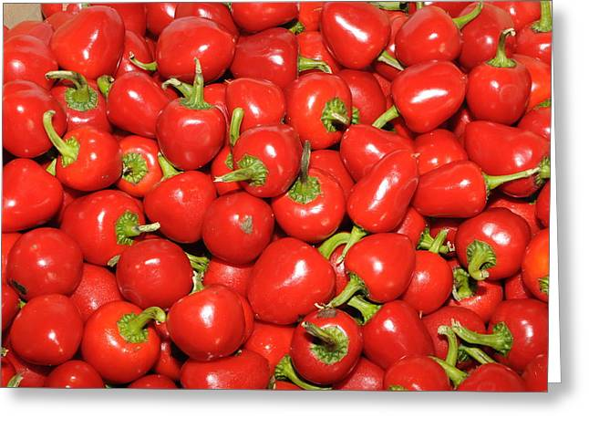 Cherry Peppers Greeting Card