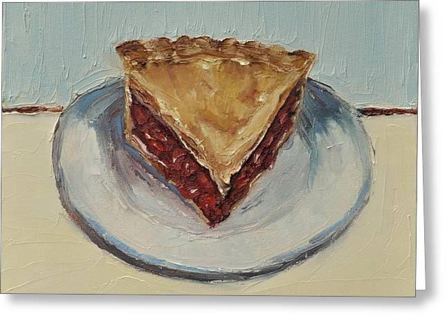 Cherry Pie Greeting Card by Lindsay Frost