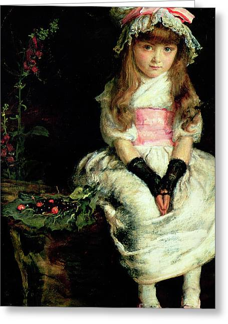 Cherry Ripe   Detail Greeting Card by John Everett Millais