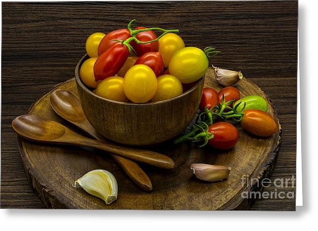 Cherry Tomatoes Still Life Greeting Card