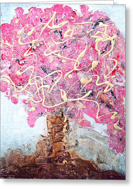 Cherry Tree By Colleen Ranney Greeting Card