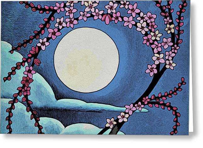 Cherry Whip Moon Greeting Card