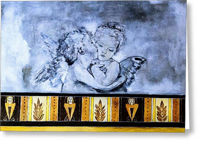 Greeting Card featuring the photograph Cherub Friendship by Marion McCristall