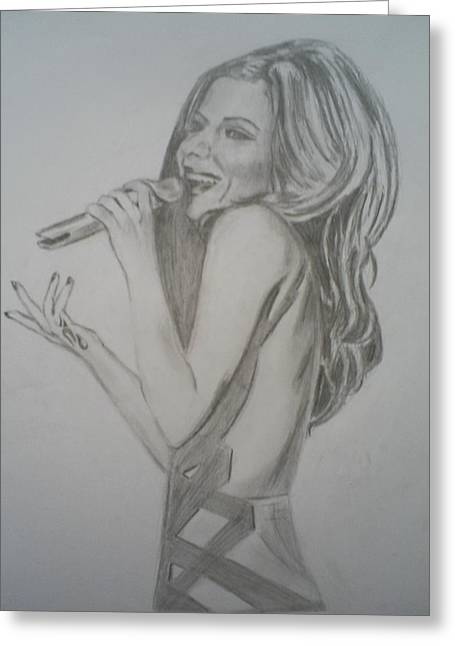 Cheryl Cole Greeting Card by James Dolan
