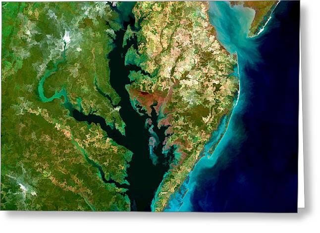 Chesapeake Bay Greeting Card by Elaine Plesser
