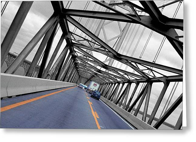 Greeting Card featuring the photograph Chesapeake Bay Bridge by T Brian Jones