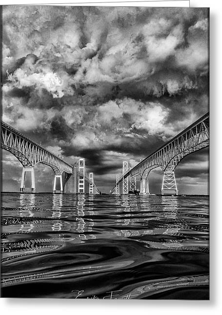Chesapeake Bay Bw Greeting Card
