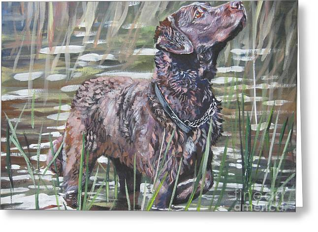 Chesapeake Bay Retriever Bird Dog Greeting Card by Lee Ann Shepard