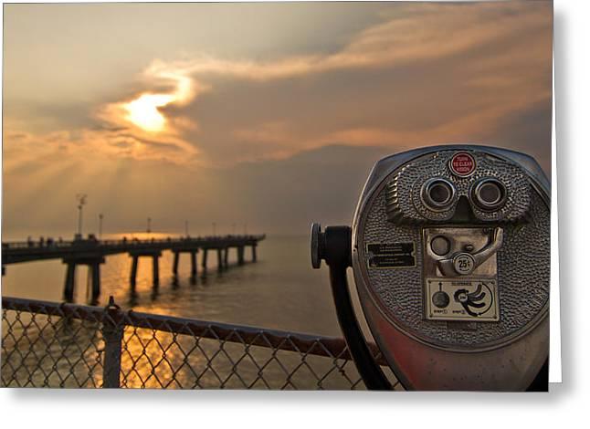 Chesapeake Bay Sunset Greeting Card by Daniel Lowe