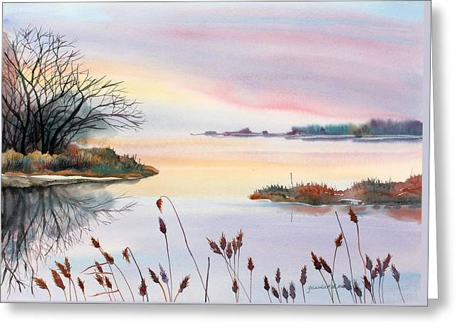 Chesapeake Bay Sunset Greeting Card by Yolanda Koh