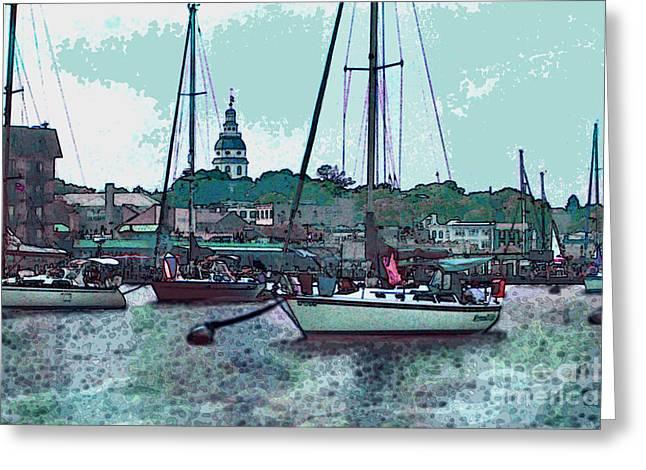 Chesapeake Bayscape Greeting Card by Elinor Mavor