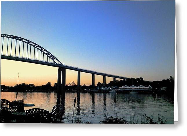 Greeting Card featuring the photograph Chesapeake City by Melinda Blackman