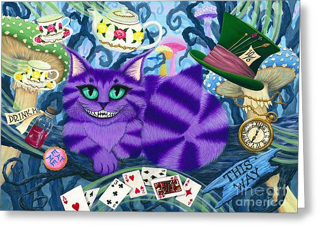 Cheshire Cat - Alice In Wonderland Greeting Card