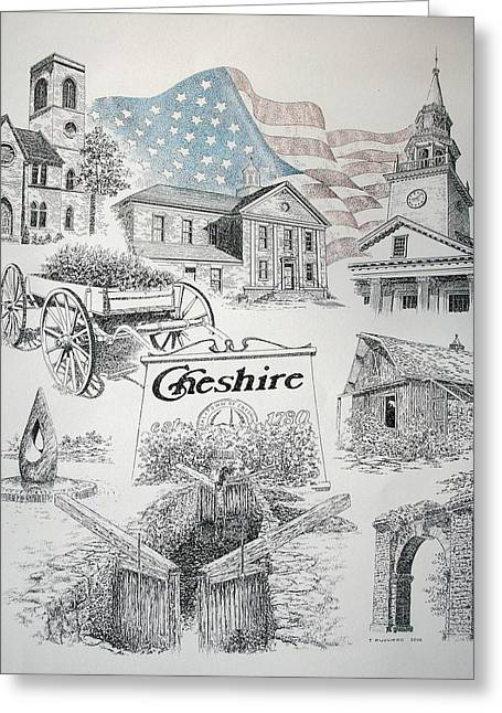 Cheshire Historical Greeting Card by Tony Ruggiero