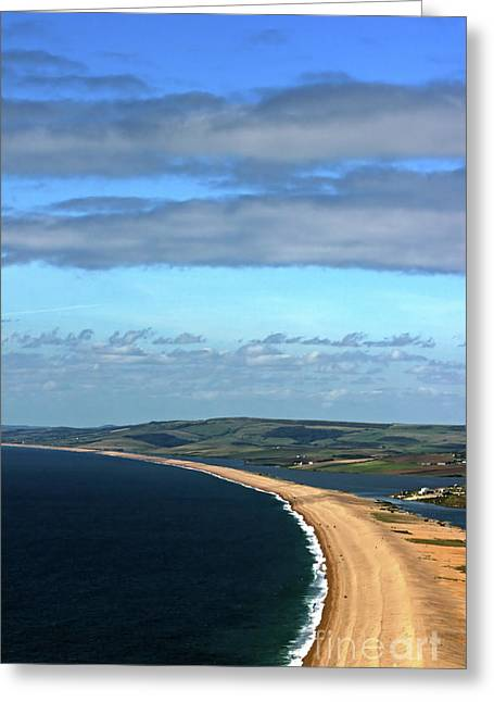 Chesil Beach Greeting Card by Stephen Melia
