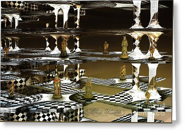 Chess Anyone Greeting Card by Melissa Messick