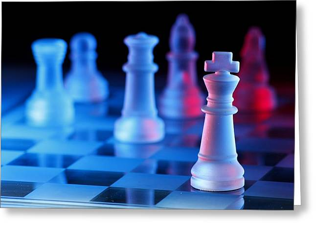 Chess Board Game Greeting Card
