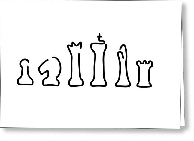 Chess Figures Greeting Card