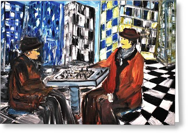 Chess Mania Greeting Card
