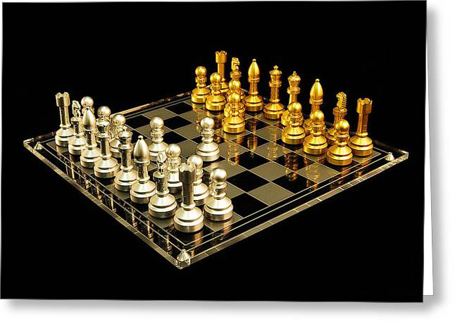 Chess Greeting Card by Michael Peychich