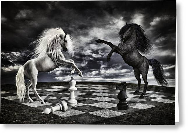 Chess Players Greeting Card by Mihaela Pater