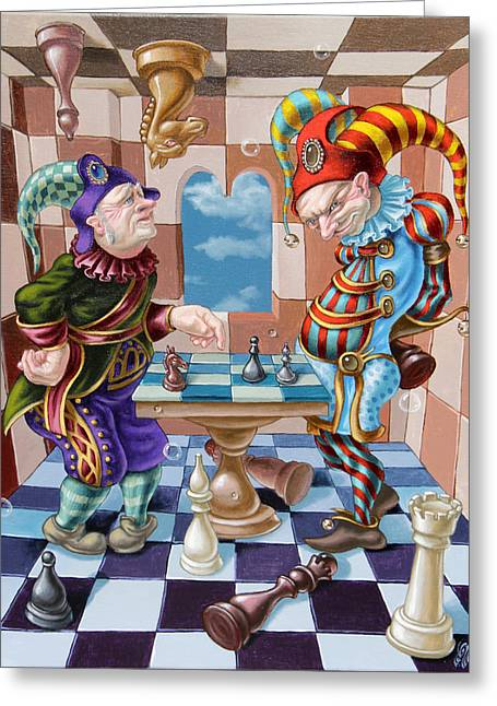 Chess Players Greeting Card