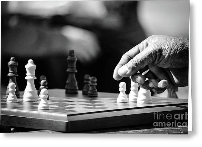 Chess Greeting Card by Robert Yaeger