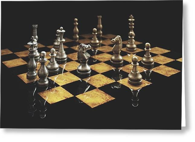 Chess The Art Game Greeting Card by Sheila Mcdonald
