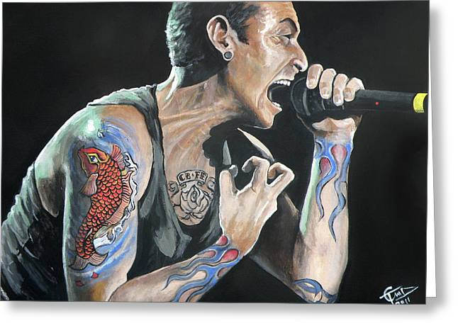 Chester Bennington Greeting Card