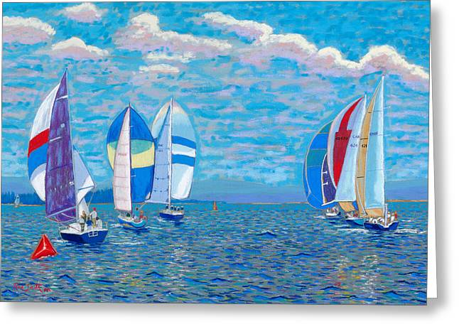 Chester Race Week 2009 Greeting Card by Rae  Smith PSC