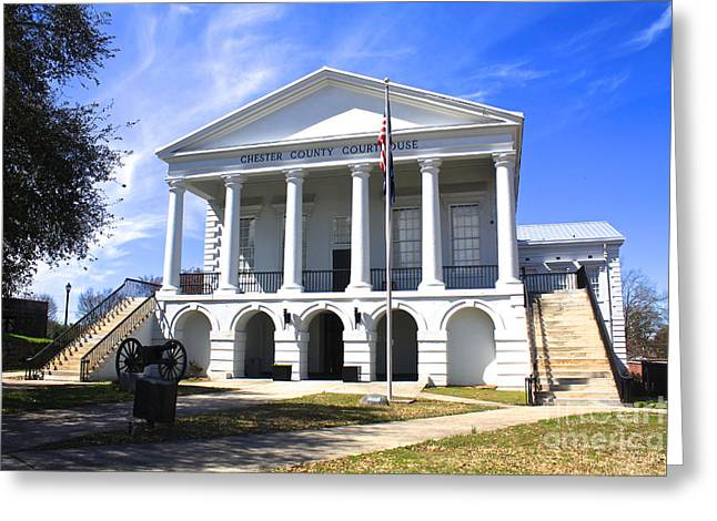 Chester South Carolina Court House Day 1 Greeting Card