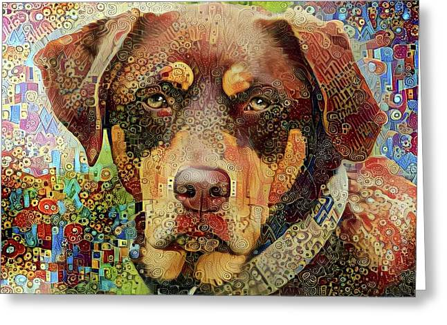 Chester The Abstract Mutt  Greeting Card