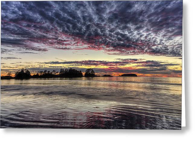 Chesterman Beach Sunset Greeting Card by Mark Kiver