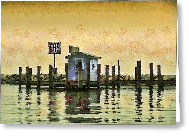 Chestertown Gas Dock Greeting Card