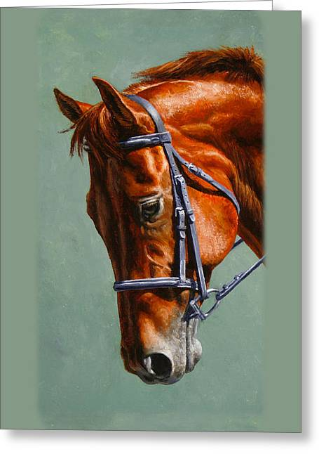 Chestnut Dressage Horse Phone Case Greeting Card by Crista Forest