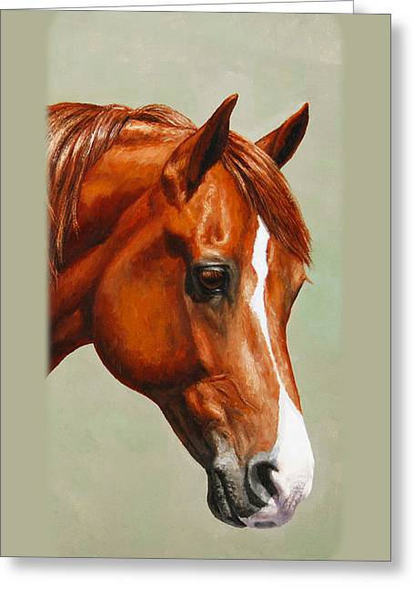 Chestnut Morgan Horse Phone Case Greeting Card by Crista Forest